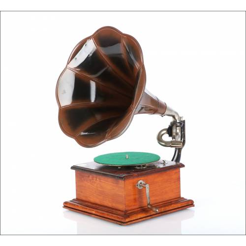 Gramófono Antiguo La Voz de Su Amo, 1910