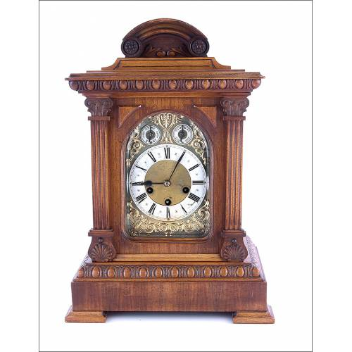 Antiguo Reloj de Péndulo Junghans. Westminster. Alemania, 1908
