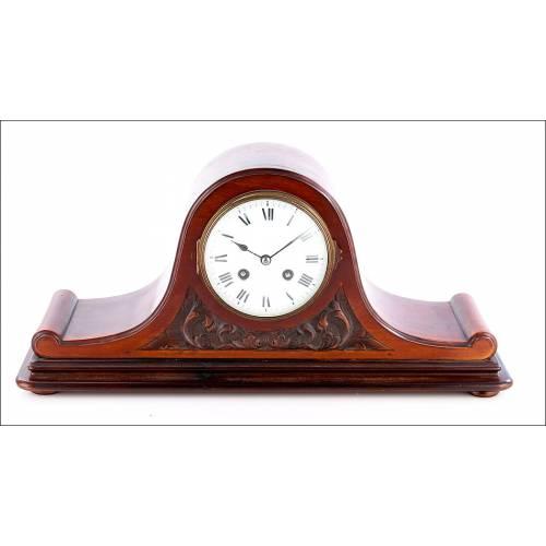 Antiguo Reloj de Sobremesa Francés en Caoba, Circa 1900