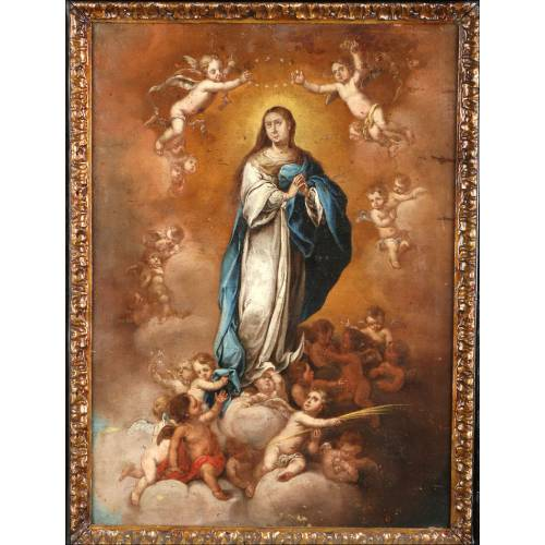"""Antigua Pintura """"La Inmaculada Concepción"""", S. XVIII"""