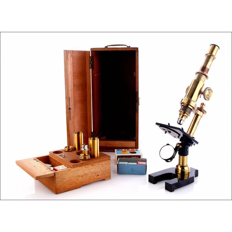 Microscopio Compuesto Antiguo, 1900