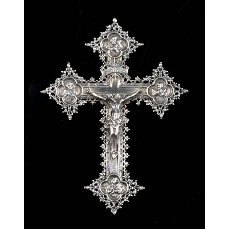 Antigua Cruz de Colgar de Plata, Circa 1930