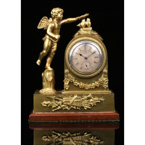 Antiguo Soporte Para Relojes de Bolsillo con Reloj de Bolsillo. 1903