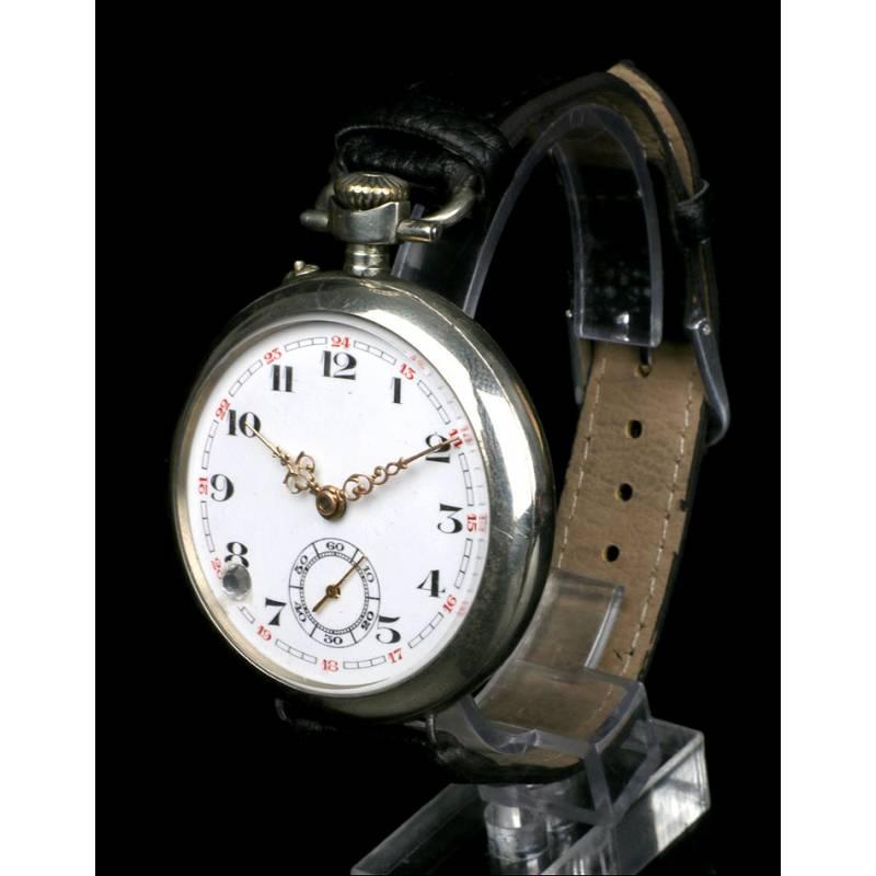 Reloj de Bolsillo Antiguo Convertido en Pulsera. Francia, 1910