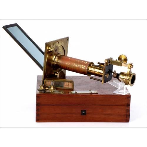 Súper Raro Microscopio Solar Antiguo. 1820-1850