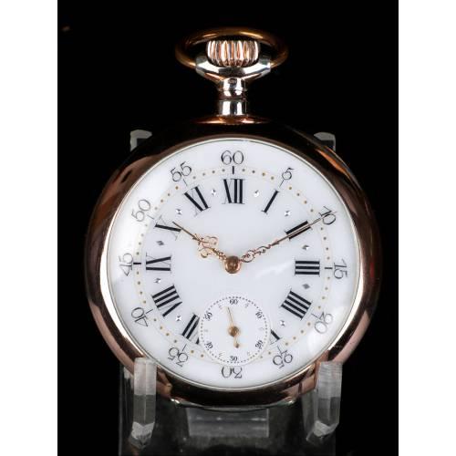 Precioso Reloj de Bolsillo Suizo Antiguo.En Plata. 1910