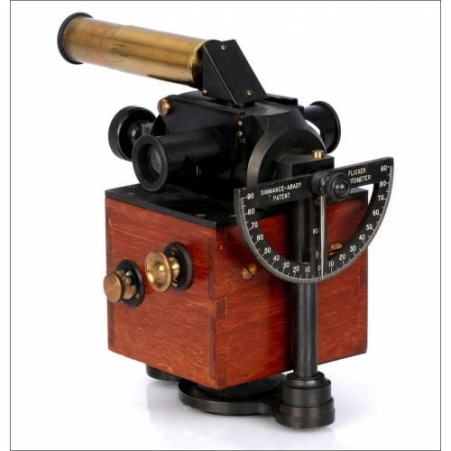Antiguo Fotómetro Mecánico de Parpadeo Simmance-Abady. Inglaterra, 1910