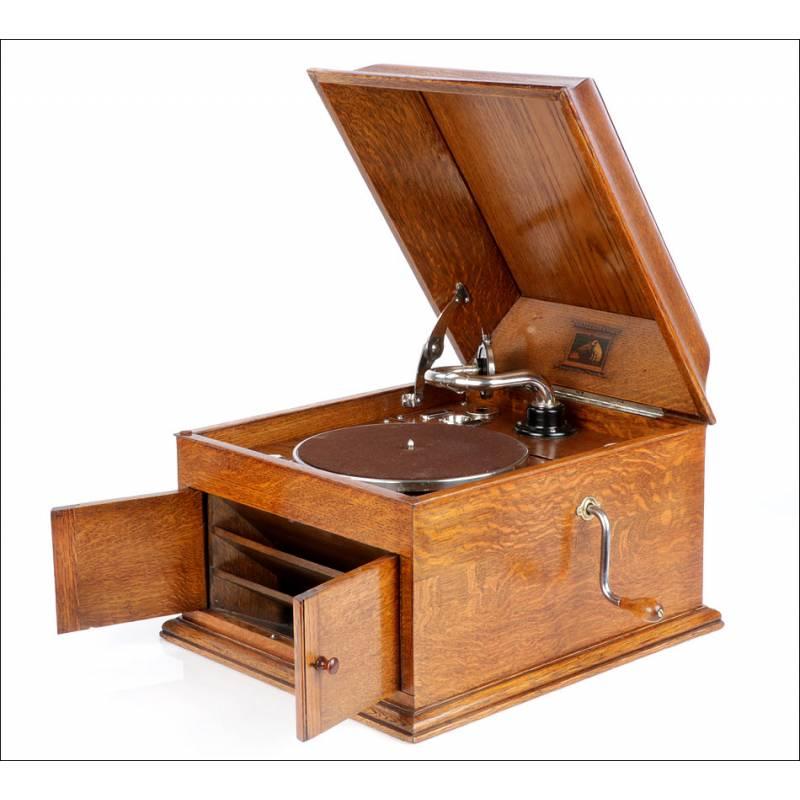 Gramófono Antiguo La Voz De Su Amo Mod. 103. Inglaterra, Años 30