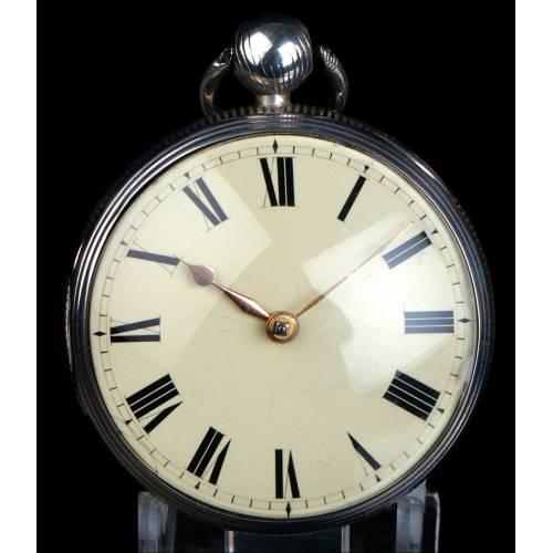 Antiguo Reloj de Bolsillo Catalino en Plata. Thomas Russell. Inglaterra, 1818