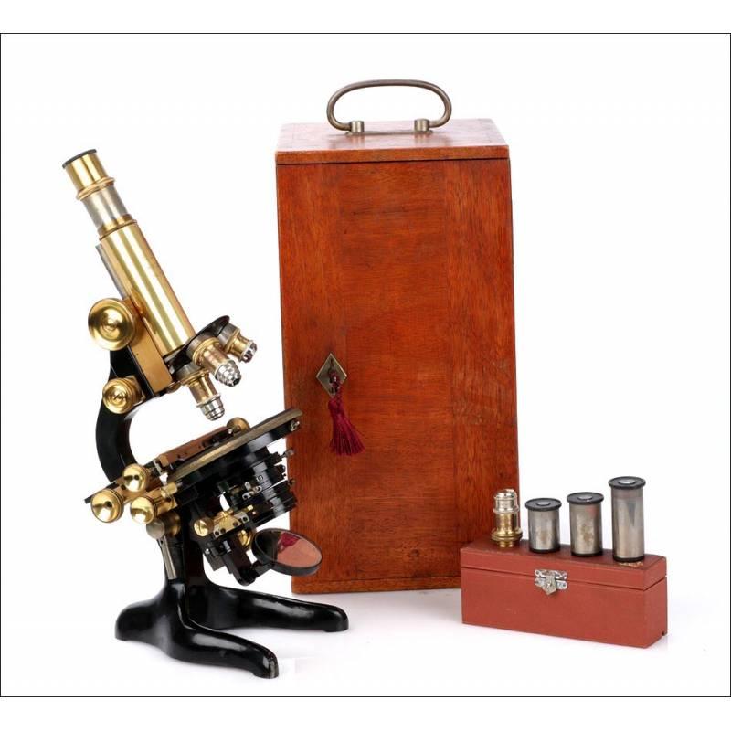 Antiguo Microscopio Leitz Wetzlar. Alemania, 1918