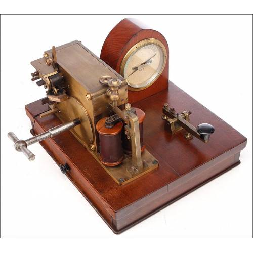 Antigua Estación Telegráfica Morse Muy Bien Conservada. Inglaterra, Circa 1890