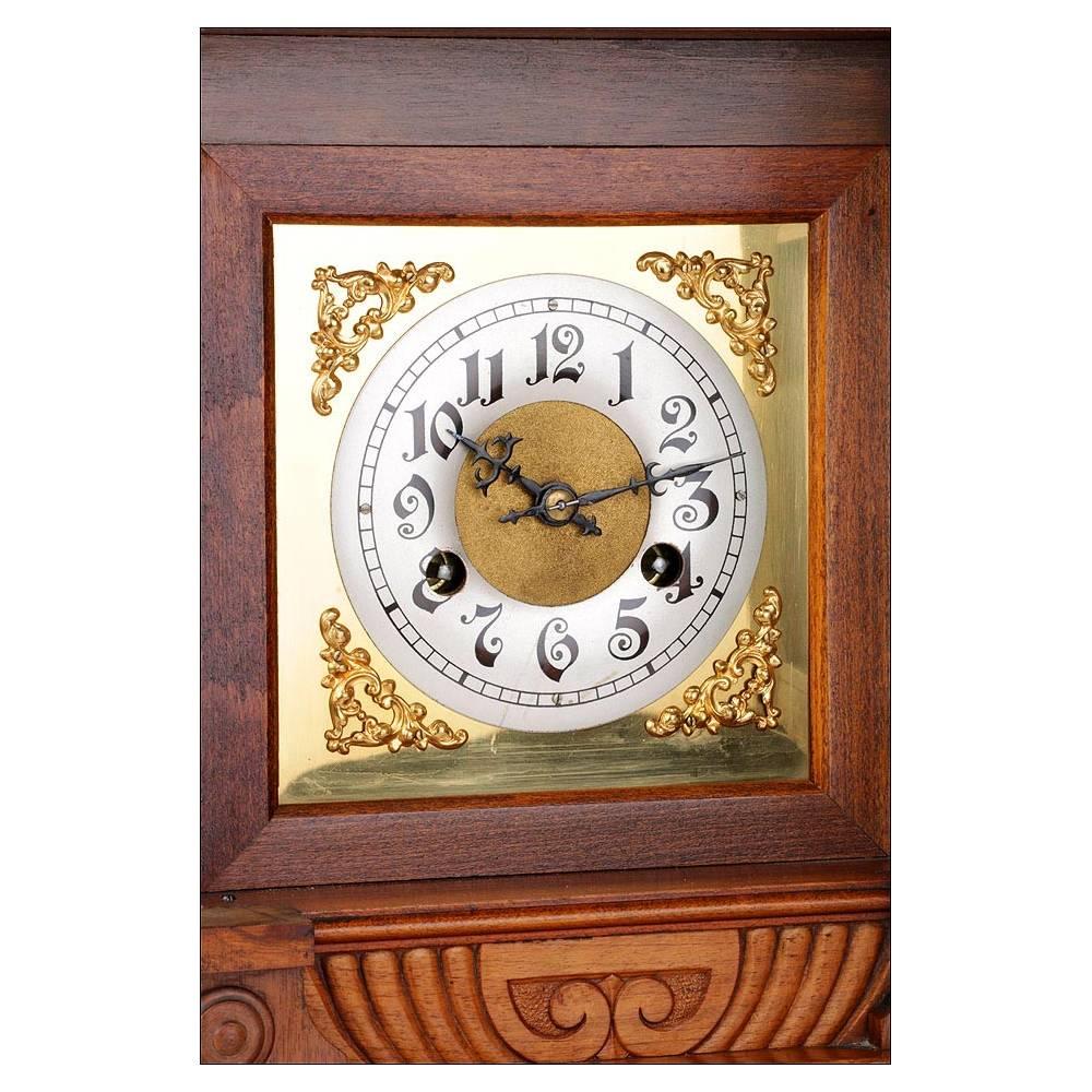 Precioso reloj de sobremesa antiguo junghans alemania 1907 - Relojes de sobremesa antiguos ...