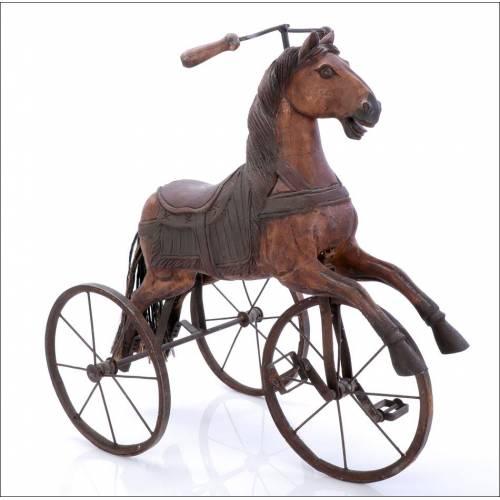 Antiguo Triciclo con Forma De Caballo. Siglo XIX- Ppios. del XX