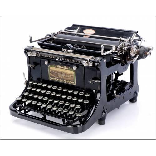 Antigua Máquina de Escribir Continental. Alemania, 1915