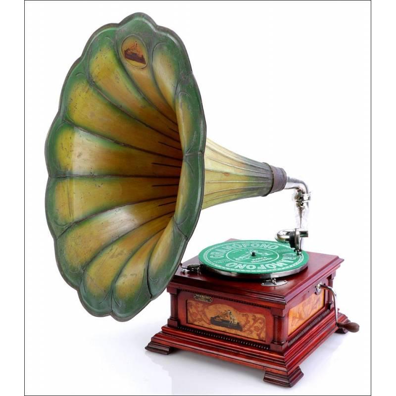 Antiguo Gramófono La Voz De Su Amo Español Modelo 5