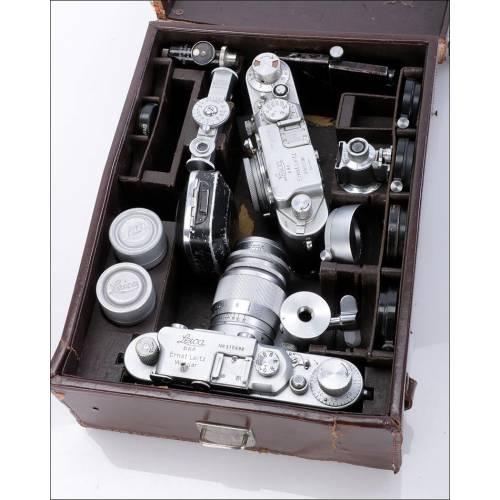 Lote de Cámaras Leica y Accesorios. Alemania, 1939-1948