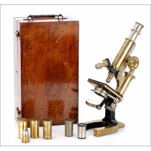 Antiguo Microscopio C. Reichter. Austria, Circa 1890