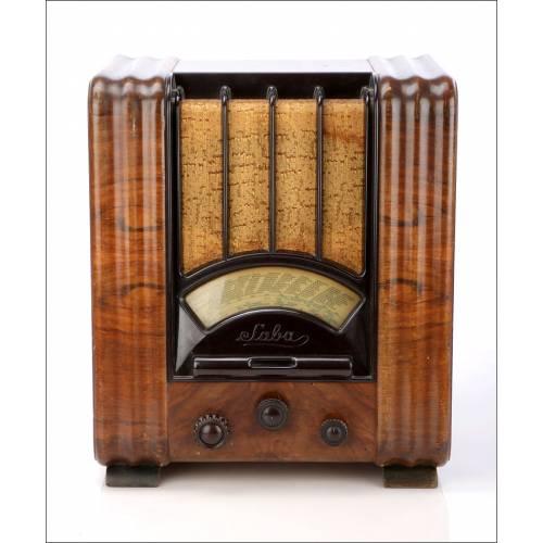 Radio de válvulas Antigua Saba 630 WL. Funcionando. Alemania 1935