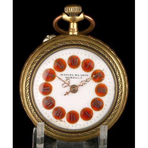 Reloj de Bolsillo Roskopf Antiguo. Maquinaria Repujada. Circa 1900