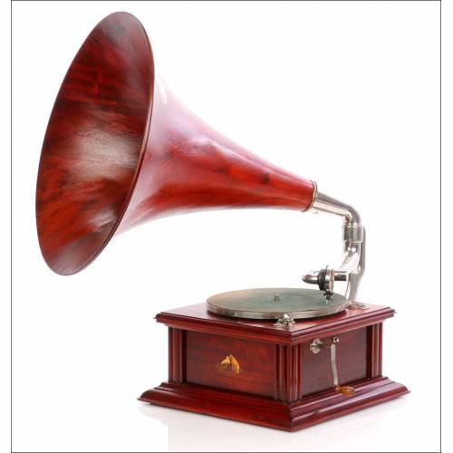 Antiguo Gramófono Británico His Master's Voice. Modelo 2. Inglaterra, Circa 1910