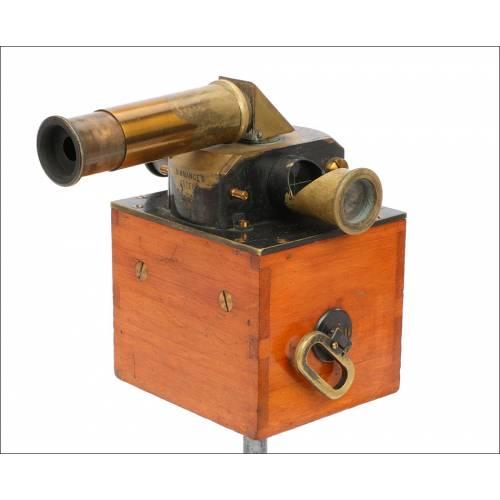 Antiguo Fotómetro Mecánico de Parpadeo Simmance-Abady. Inglaterra, Circa 1900