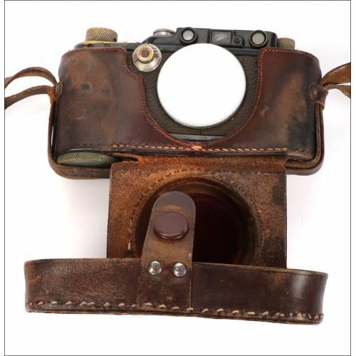 Cámara Leica III Antigua de 1933. Solo Cuerpo y Funda, Alemania