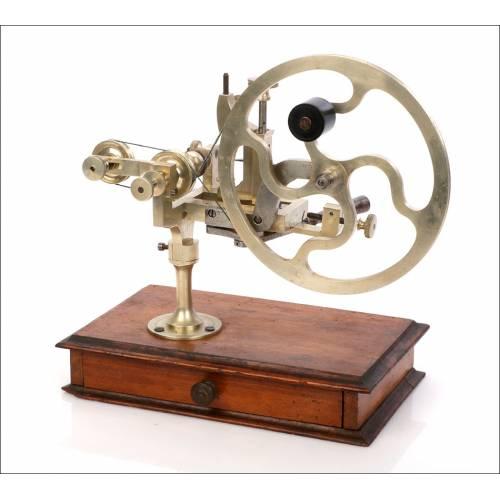 Antigua Máquina de Arrondir para Relojero. Completa. Siglo XIX