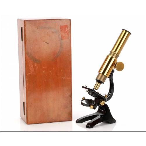 Antiguo Microscopio para Estudiante. Circa 1900