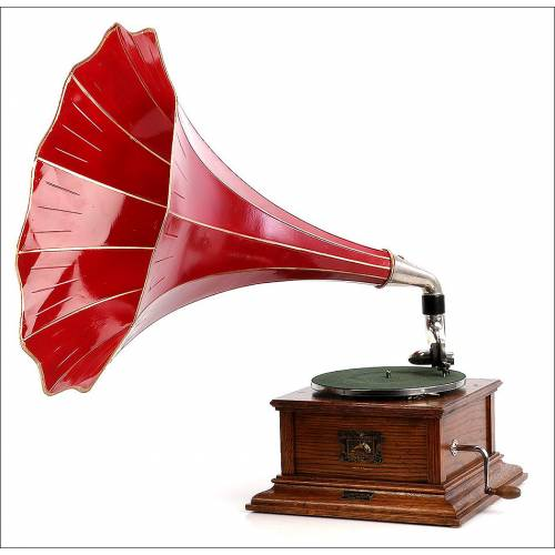 Antiguo Gramófono La Voz De Su Amo.  Modelo 2. Circa 1920