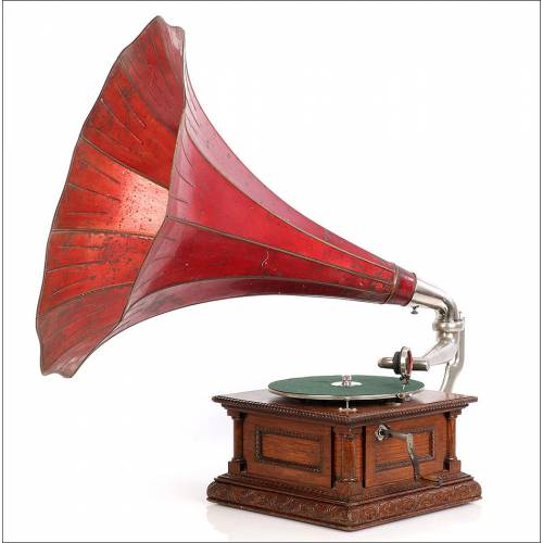 Antiguo Gramófono HMV (Victor) Monarch Nº 11. Francia, 1905