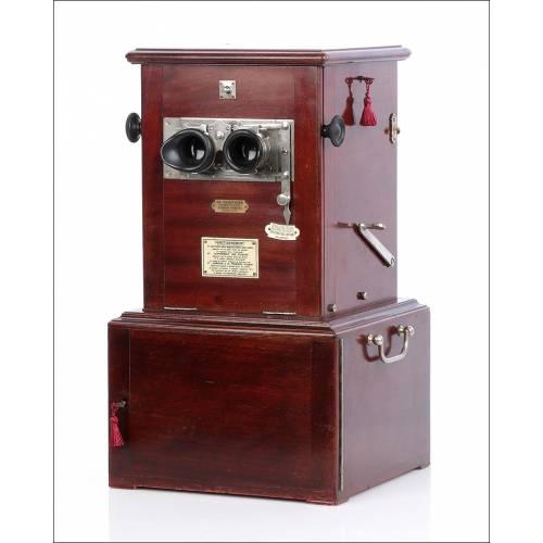 Antiguo Estereoscopio Le Taxiphote.  Francia 1900