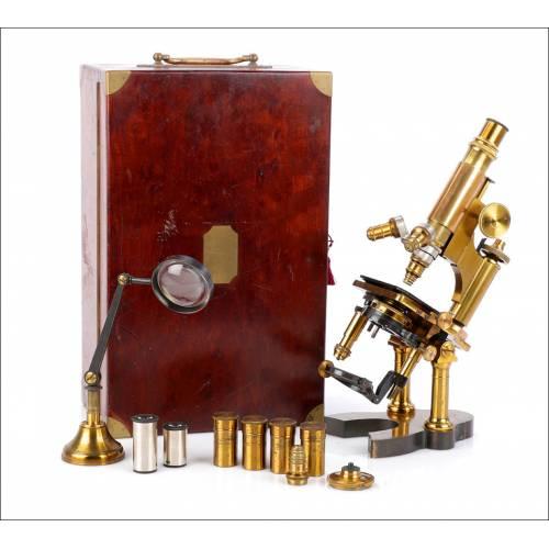 Raro Microscopio Francés Nachet Grand Modéle Nº 3.