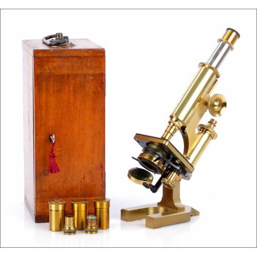 Microscopio R&J Beck Antiguo. Inglaterra, 1890