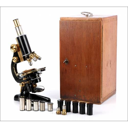 Gran Microscopio Seibert Antiguo. Alemania 1920