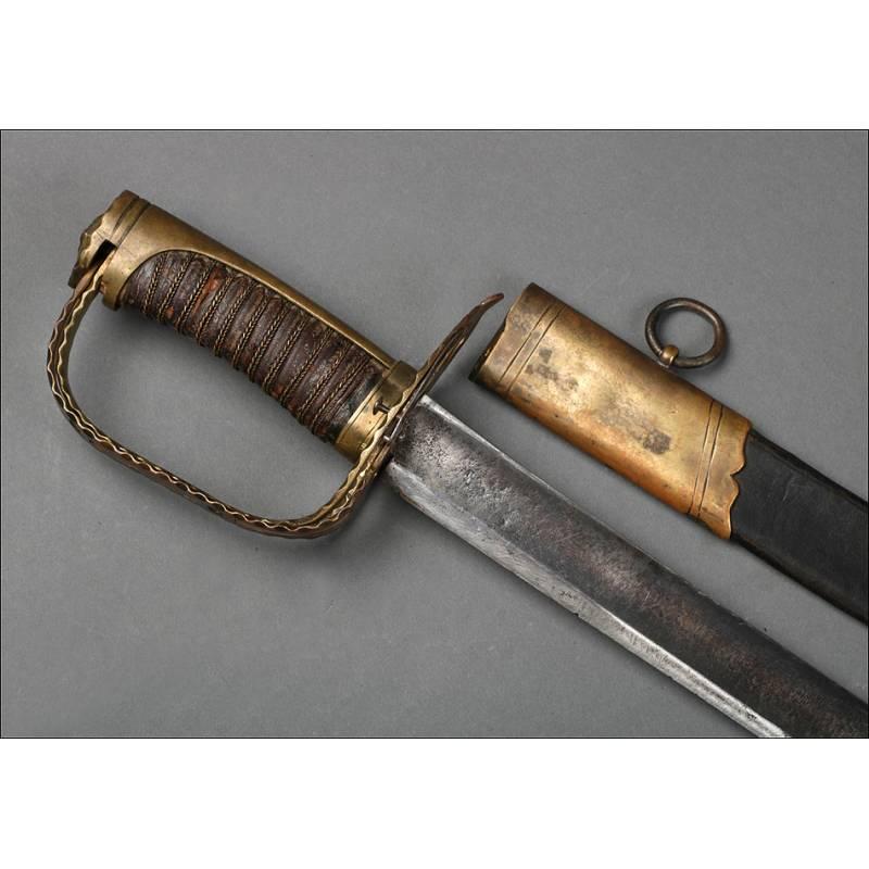 Rara Espada de Oficial Francés a Caballo. Época Revolucionaria. Francia, Circa 1790