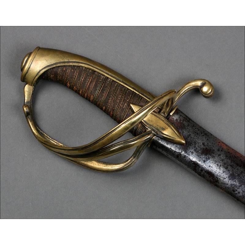 Antigua Espada Napoleónica. Oficial de Caballería Ligera. Mod. An XI. Francia, Circa 1810