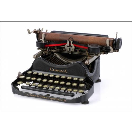 Máquina de Escribir Plegable Corona 3. Antigua. Estados Unidos, 1926