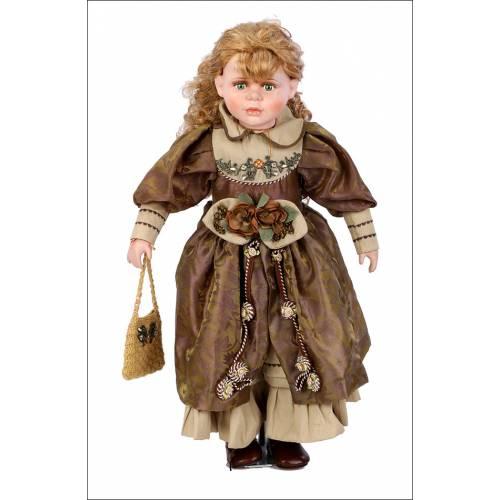Muñeca de Porcelana Vintage. Gran Tamaño. 65 cms. Años 80.