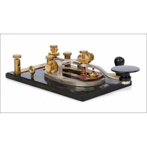 Llave Morse Antigua para Estación Telegráfica. Inglaterra, Años 30
