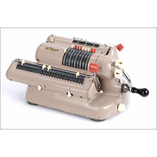 Antigua Calculadora Mecánica Walther. Alemania, Años 60