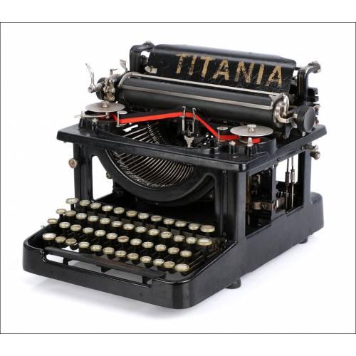Antigua Máquina de Escribir Titania Modelo 3. Alemania. 1916