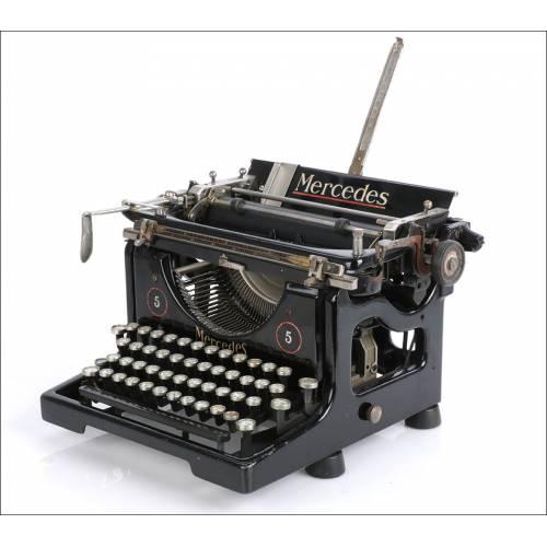 Antigua Máquina de Escribir Mercedes Mod 5. Alemania, Años 30