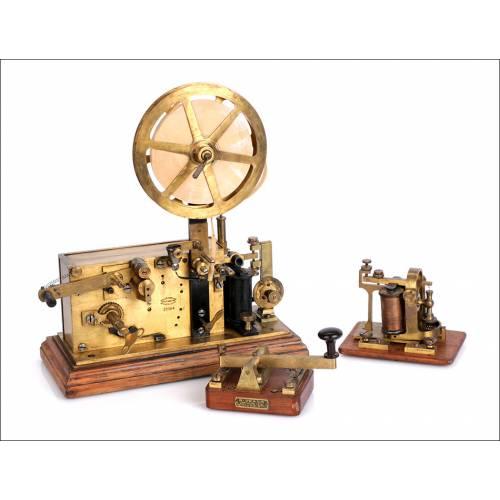 Antigua Estación Morse Usada en Correos. Favarger y Cie. Suiza, 1880