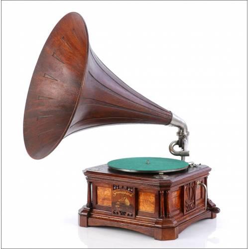 Gramófono La Voz de Su Amo Español Antiguo, Mod. 13-C. España. 1920