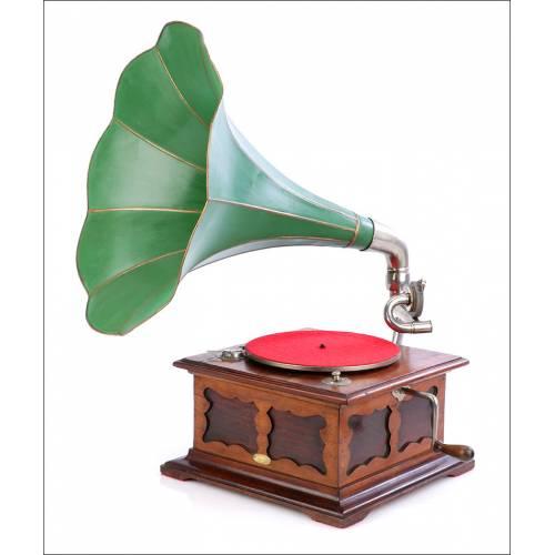 Antiguo Gramófono de Trompeta New Phono Mod. 12. España, 1920