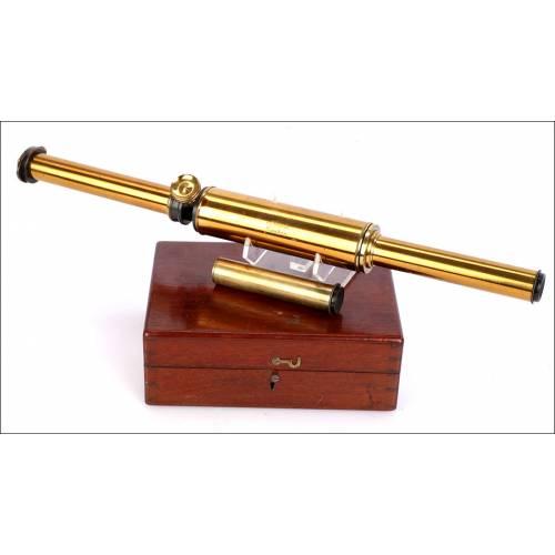 Antiguo Espectrómetro de Mano Portátil John Browning. Inglaterra, Circa 1880
