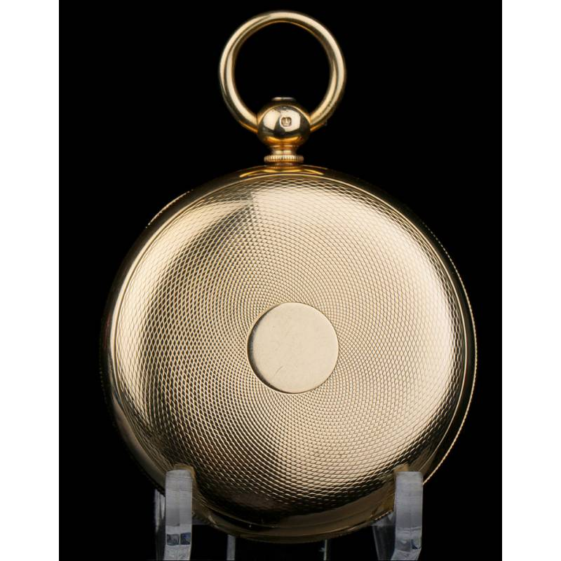 Antiguo Reloj de Bolsillo Inglés. Oro 18 K. French, Royal Exchange, Londres, 1859