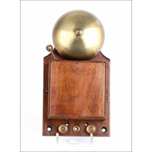 Antiguo Timbre para Teléfono Británico. Inglaterra, Circa 1900