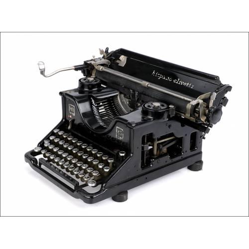 Antigua Máquina de Escribir Hispano-Olivetti M40. Teclado Español. Años 30