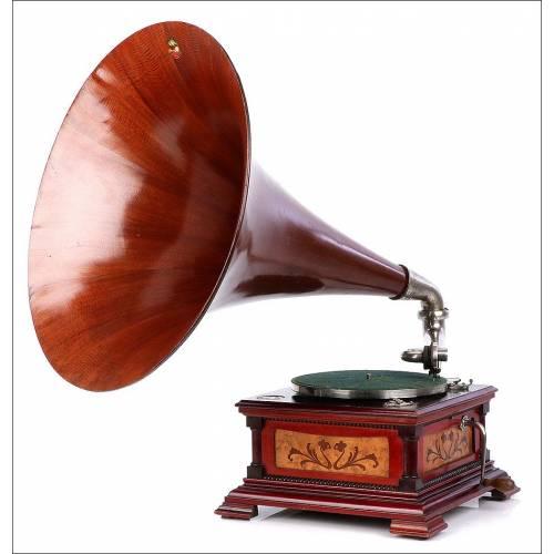 Antiguo Gramófono La Voz de su Amo Español. Modelo 5. España, Circa 1915-18
